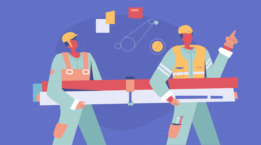 Vector of construction workers